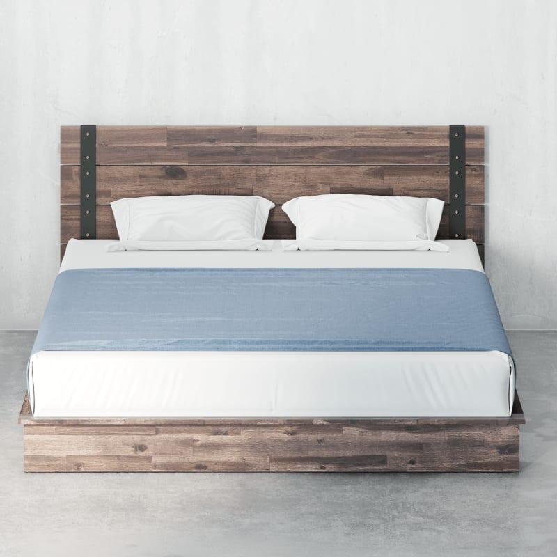 Brock Metal and Wood Platform Bed Frame