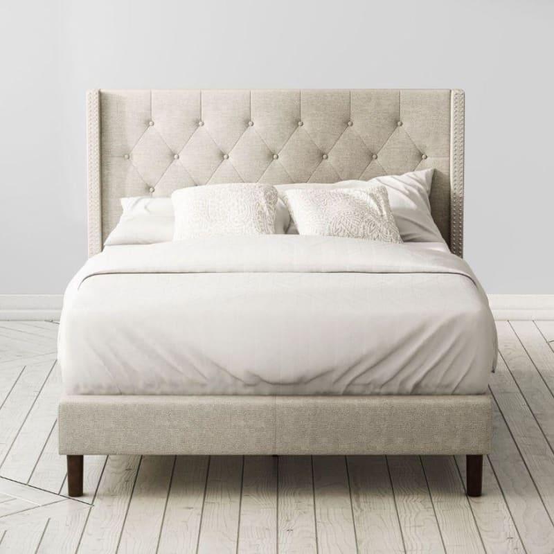 Annette upholstered platform bed frame
