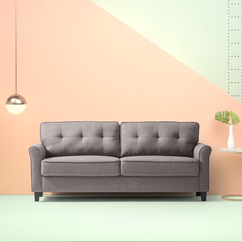 Sand Grey Traditional Sofa