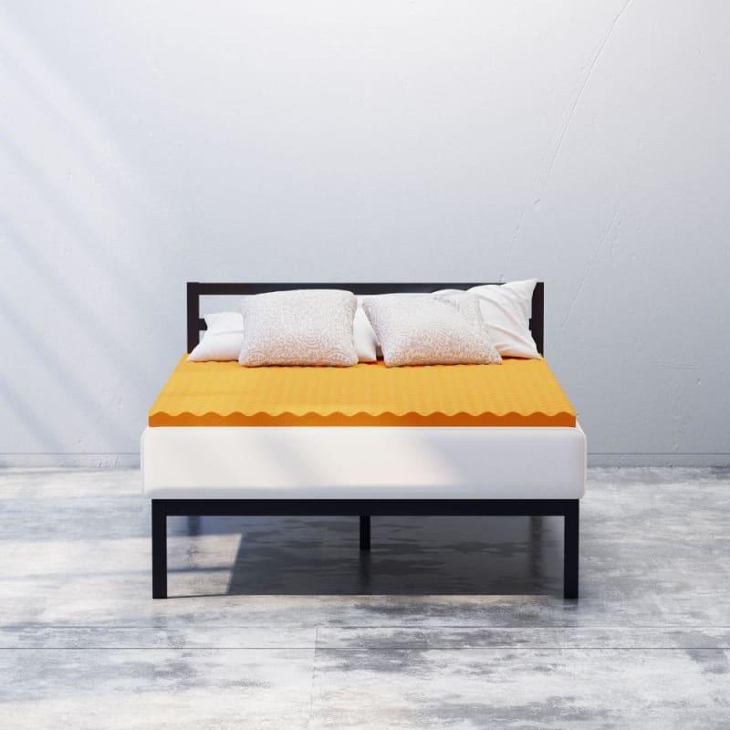 2  Cooling Copper Convoluted Memory Foam mattress Topper