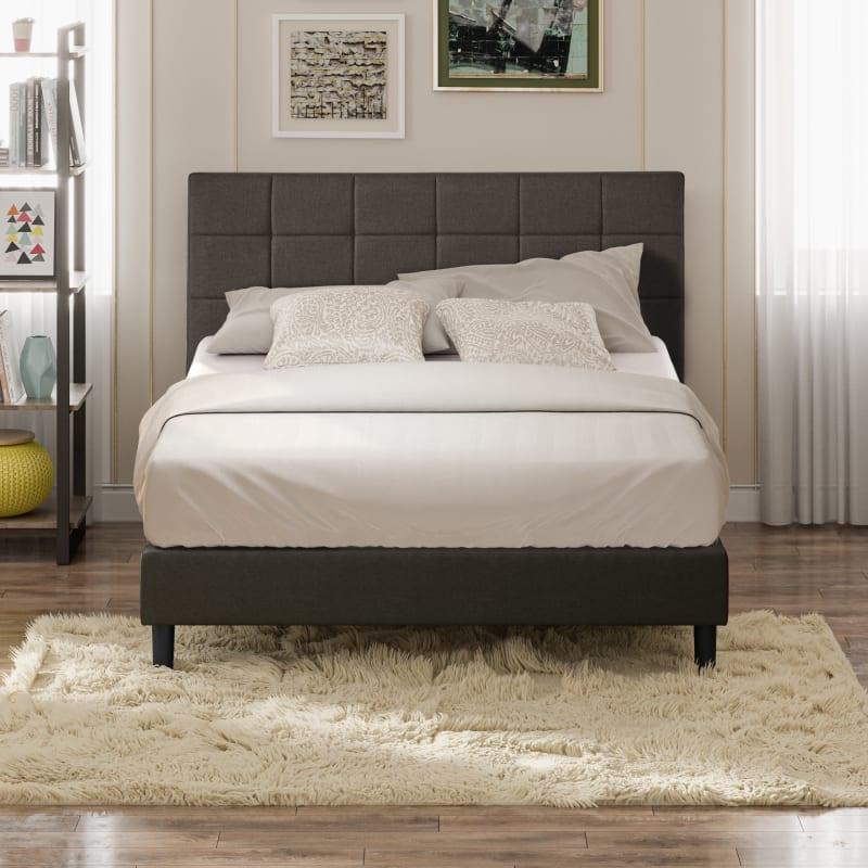 Lottie Upholstered Platform Bed Frame with USB Ports