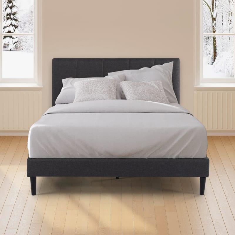 Maddon Upholstered Platform Bed Frame grey