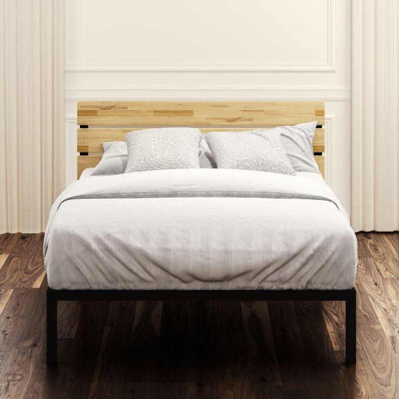Paul Metal and Wood Platform Bed Frame
