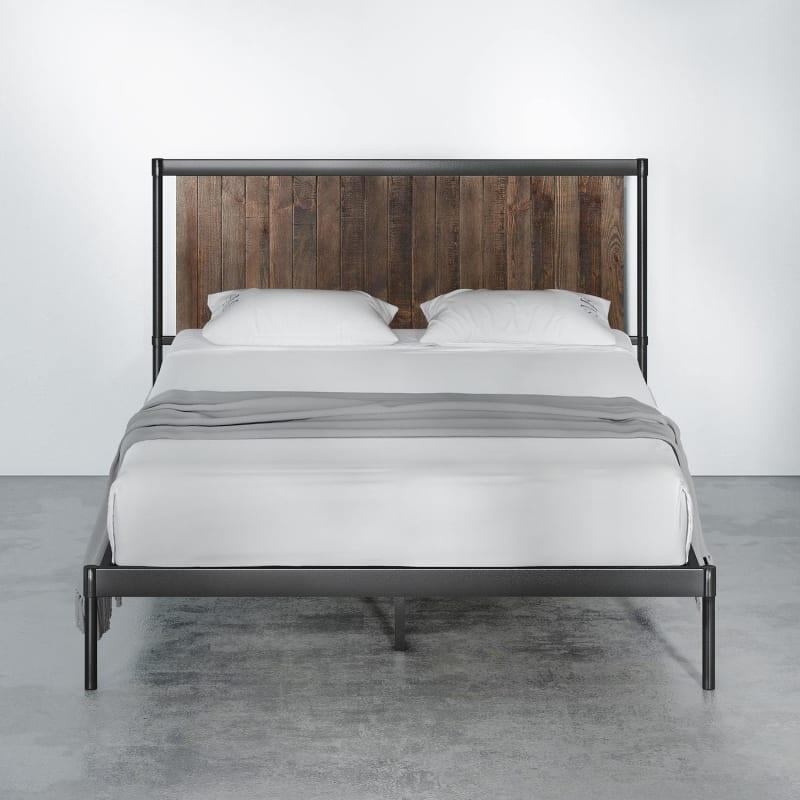 Wesley Metal and Wood Platform Bed Frame