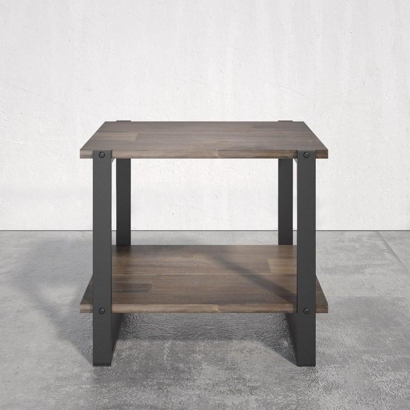 Brock Metal and Wood Side Table