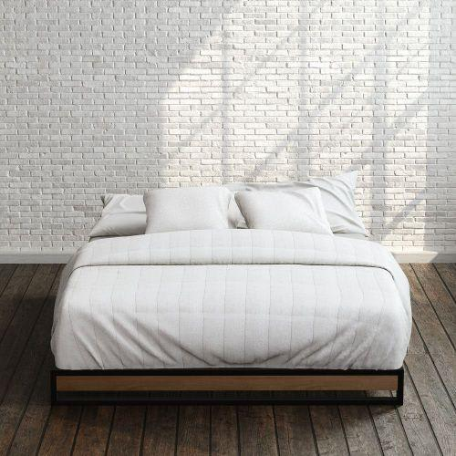 6 inch Suzanne Metal And Wood Platform Bed