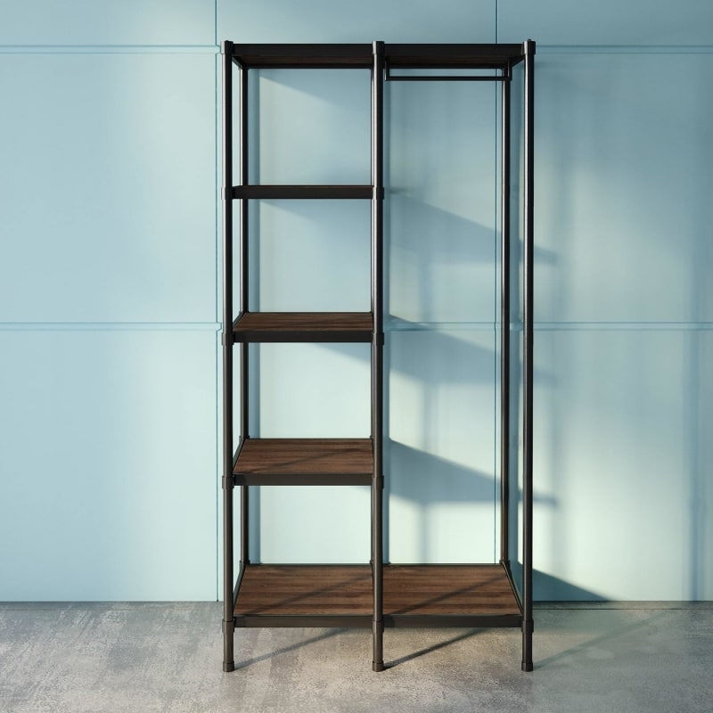 Wesley Etagere Bookcase with Hanging Storage