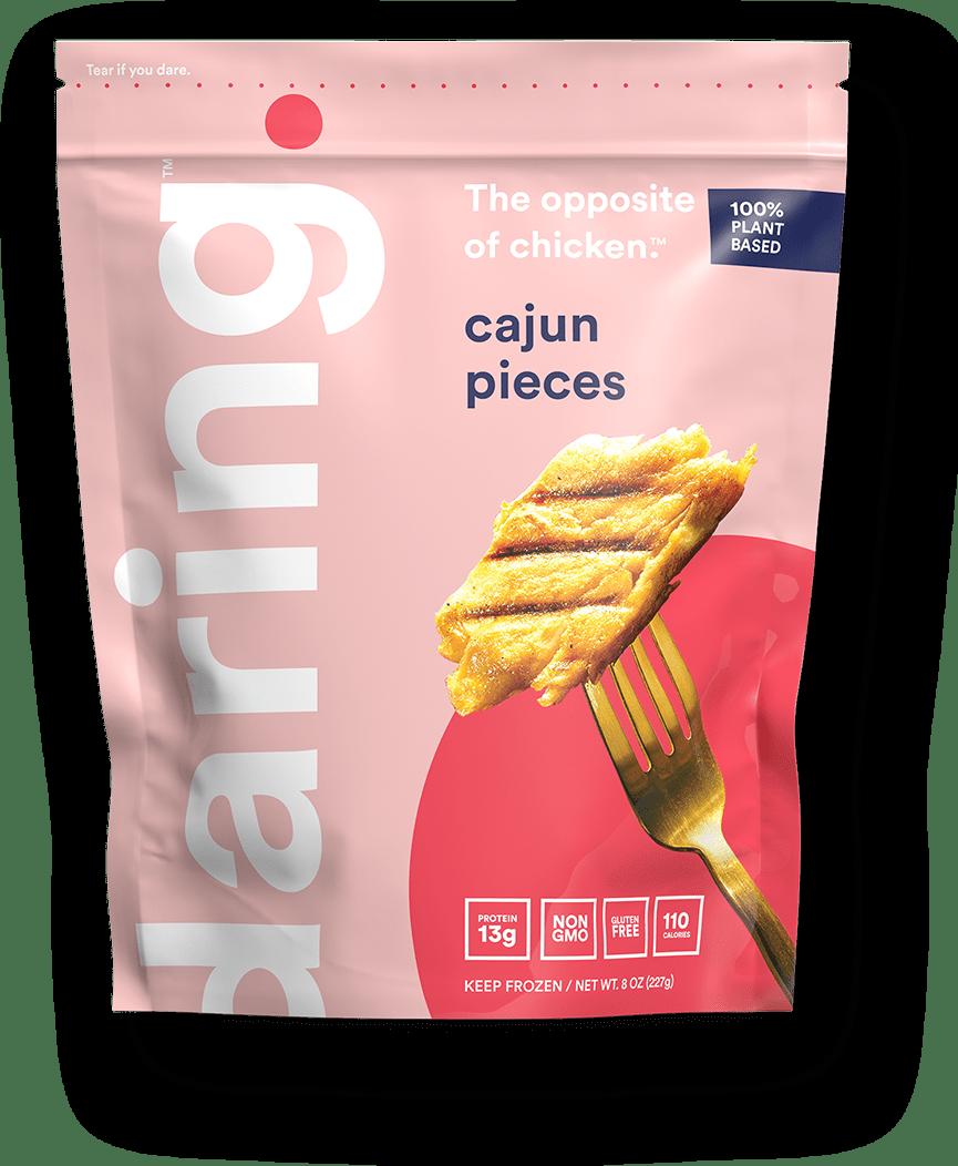Daring Cajun Plant Based Vegan Chicken Pieces Pouch