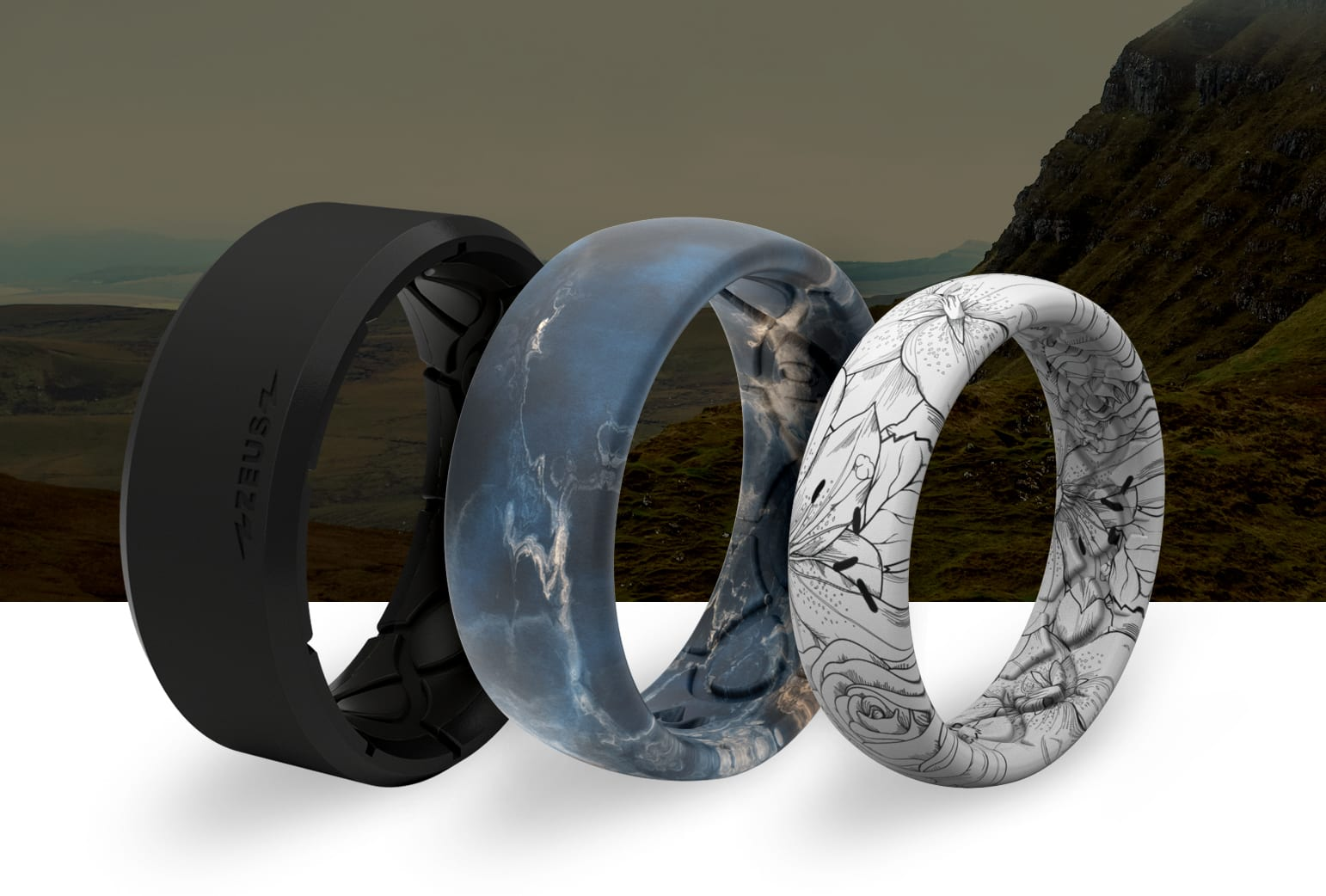 Breathable, silicone Groove Rings