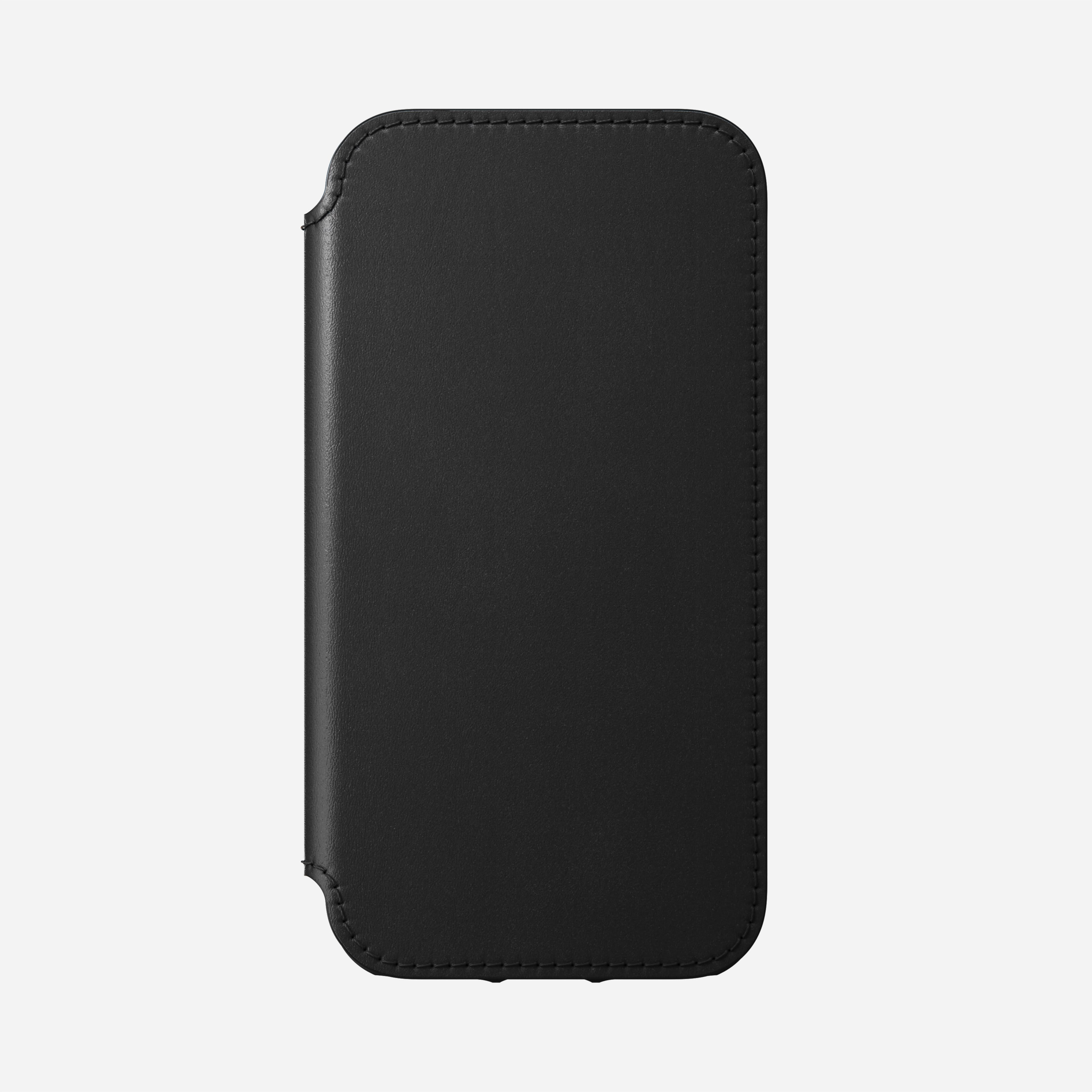 Rugged folio magsafe horween leather black iphone 12 mini