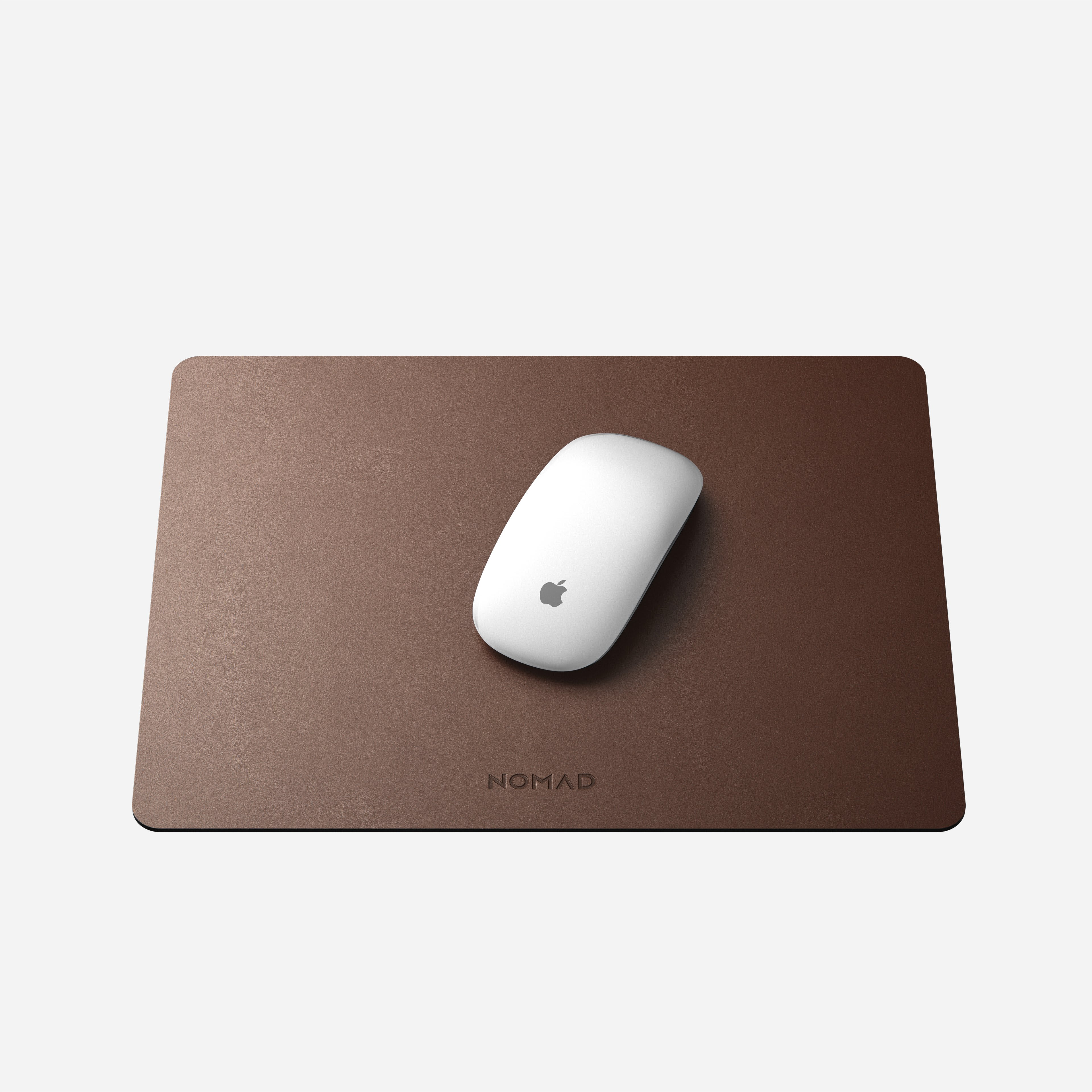 Horween Leather Mousepad Rustic Brown 13-inch