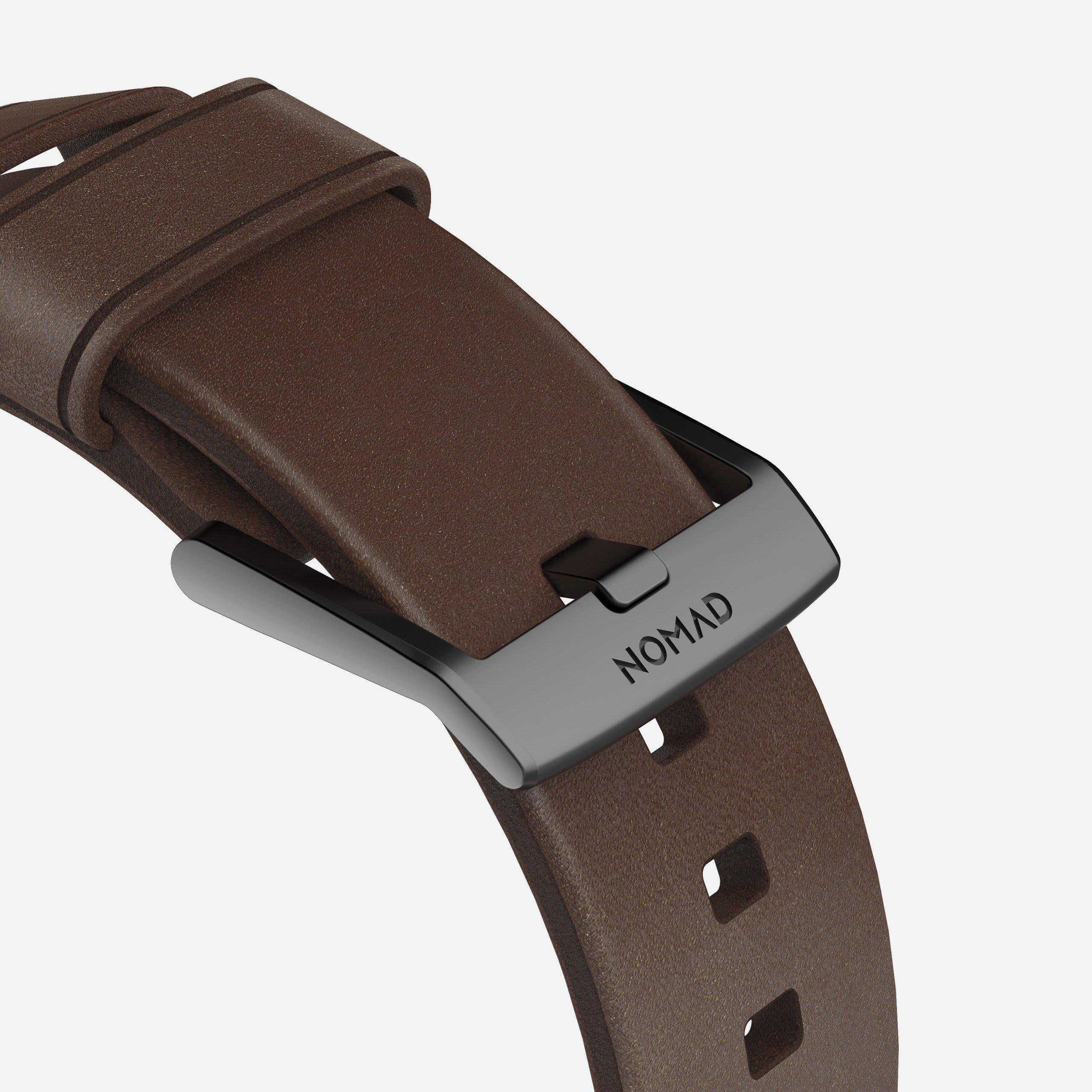 Modern strap rustic brown black hardware
