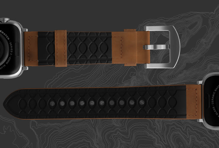 Breathable hypoallergenic watch bands.
