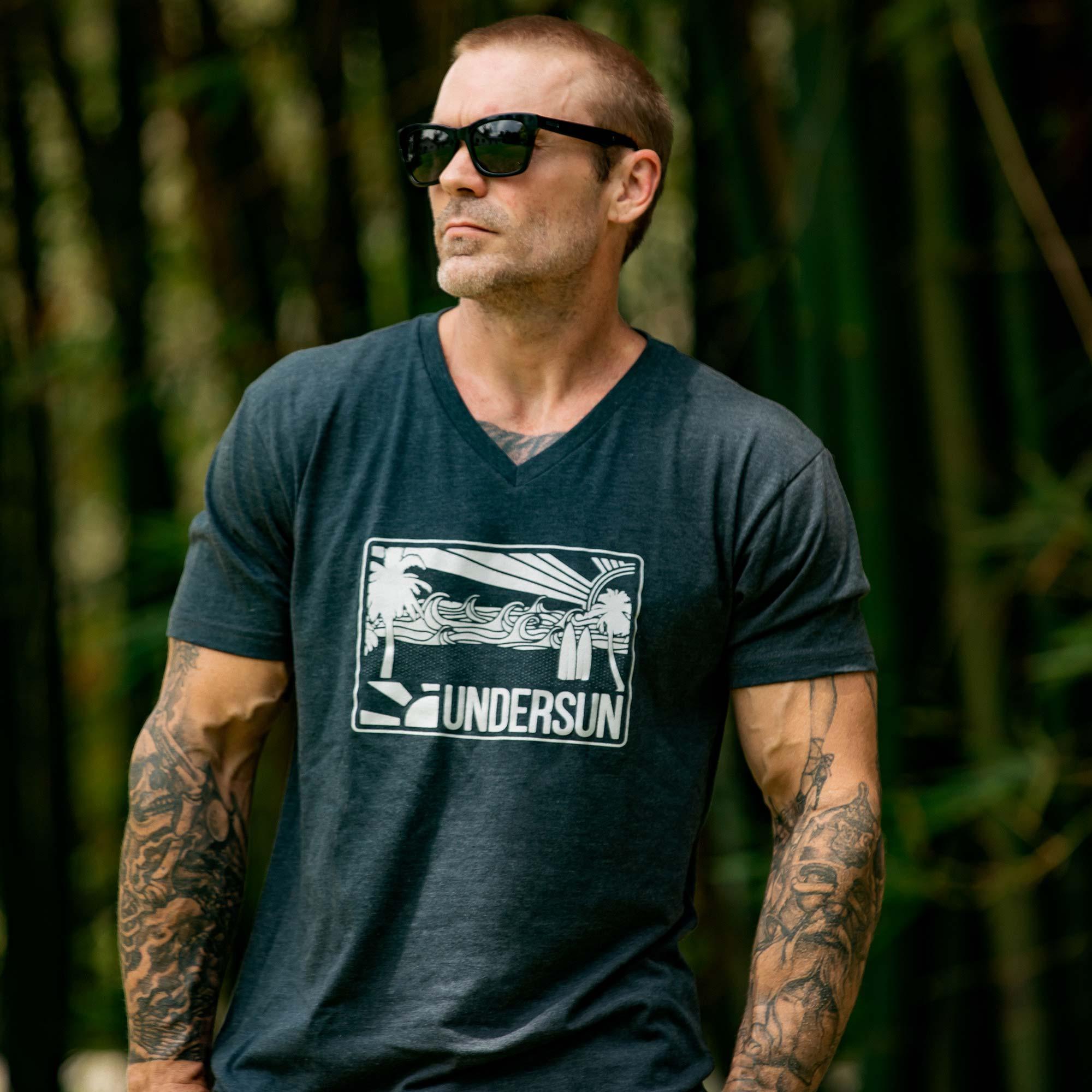 Undersun Men's Beach Sun V-Neck T-Shirt