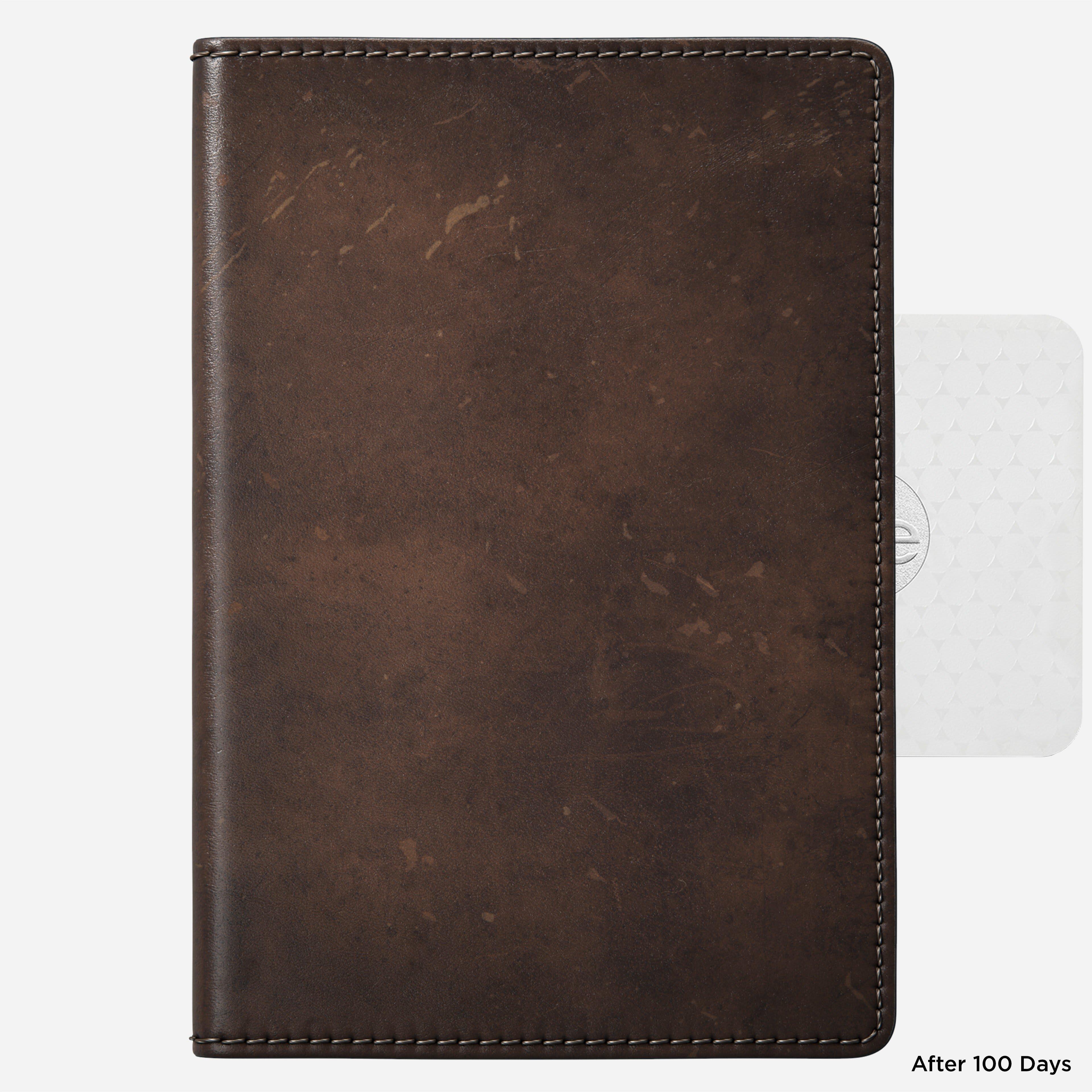 Traditional Passport Wallet Rustic Brown