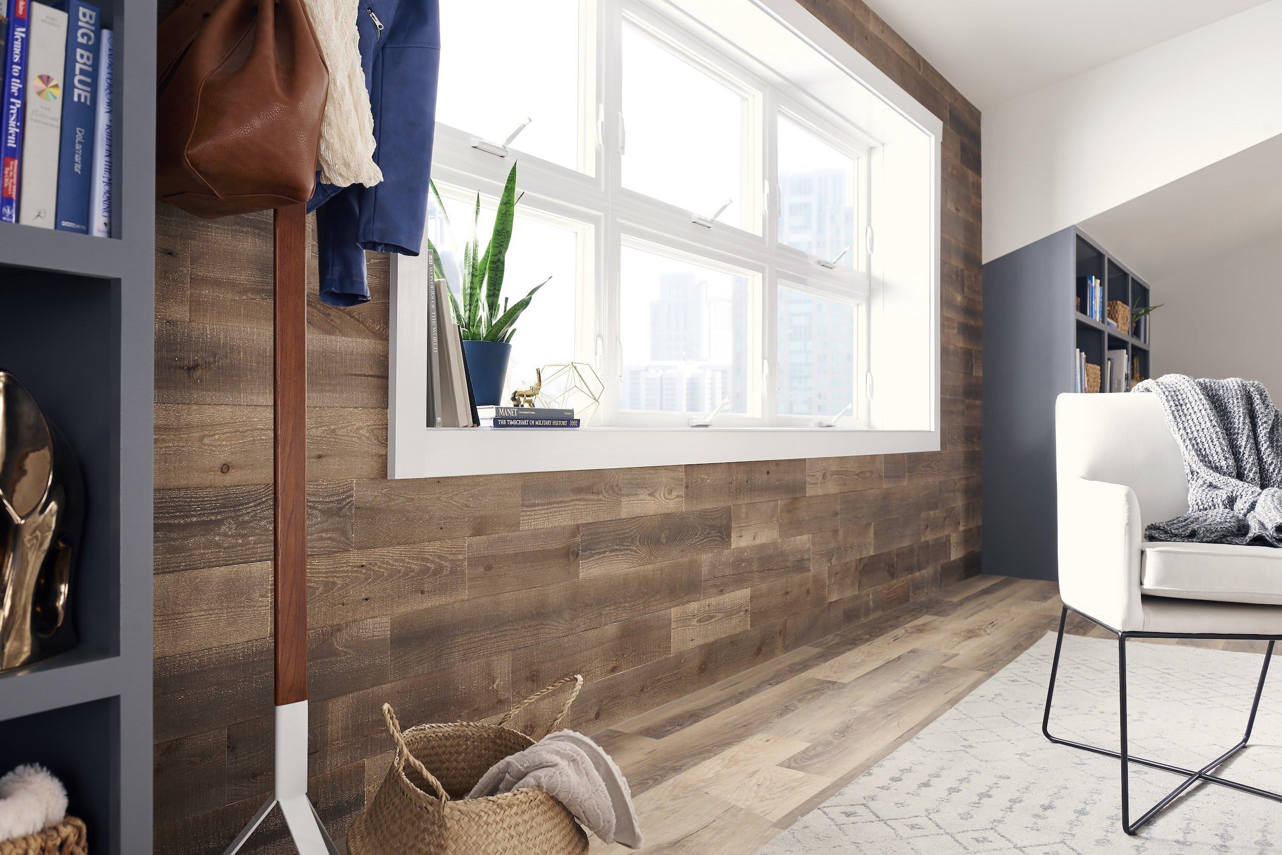 hazelnut peel and stick wood wall