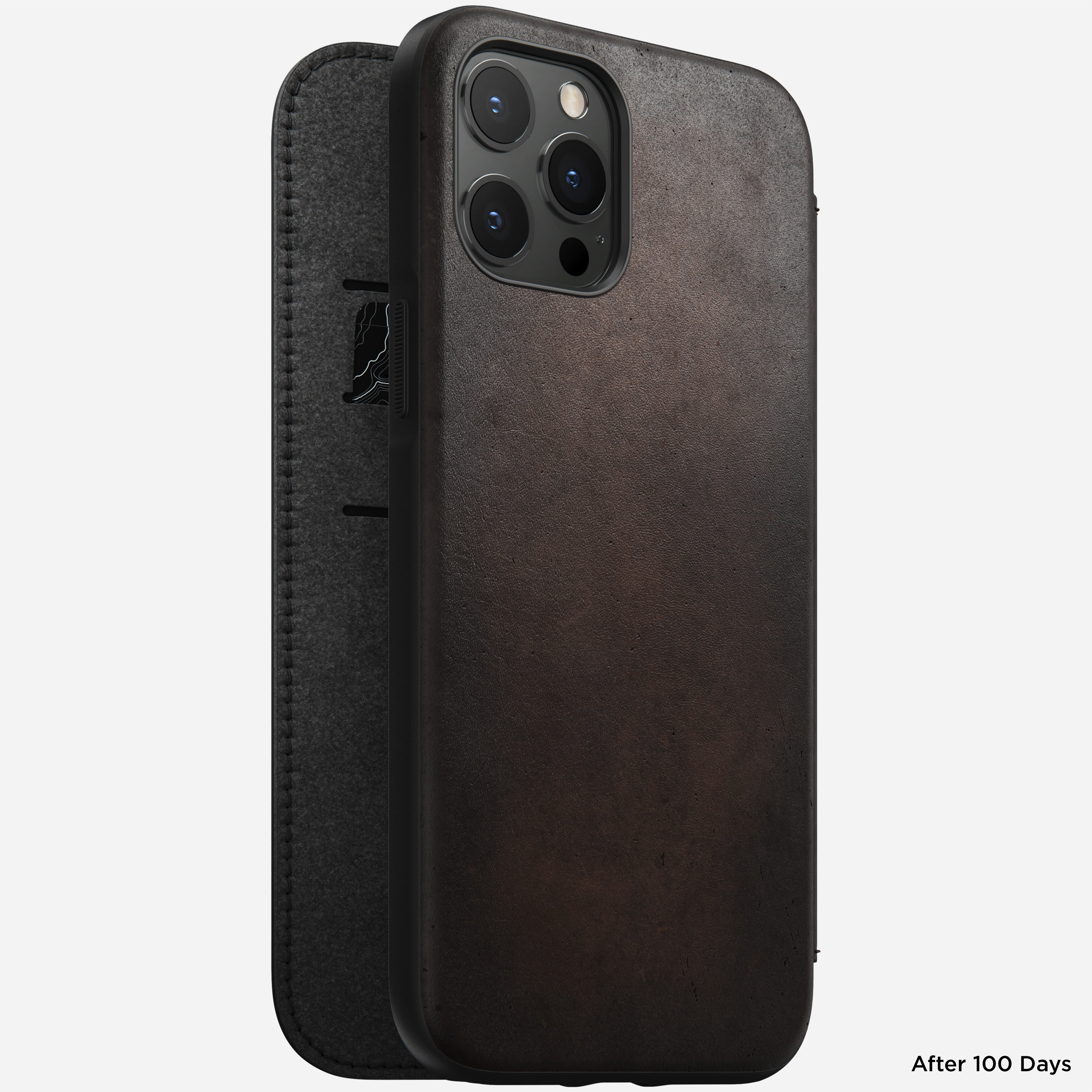 Rugged folio horween leather rustic brown iphone 12 pro max
