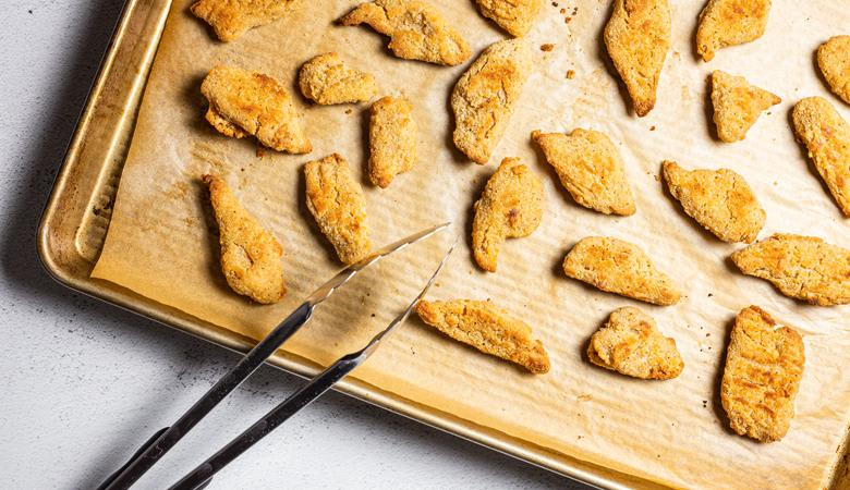 Daring breaded plant based chicken pieces