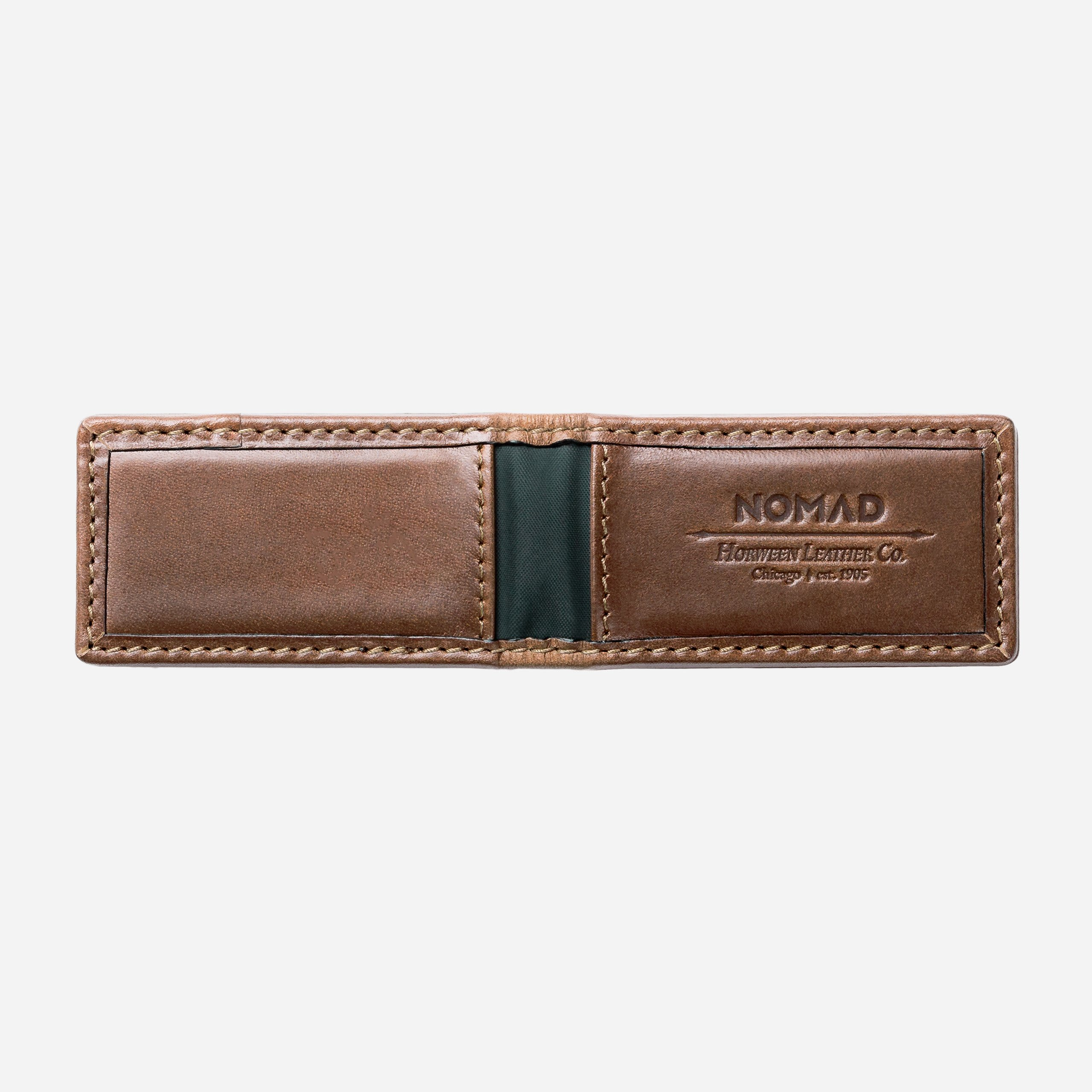 Leather Money Clip Opened