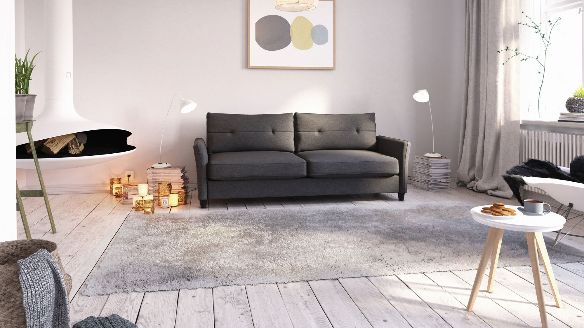Living Room Furniture, Affordable Sofa, Loveseat, Zinus