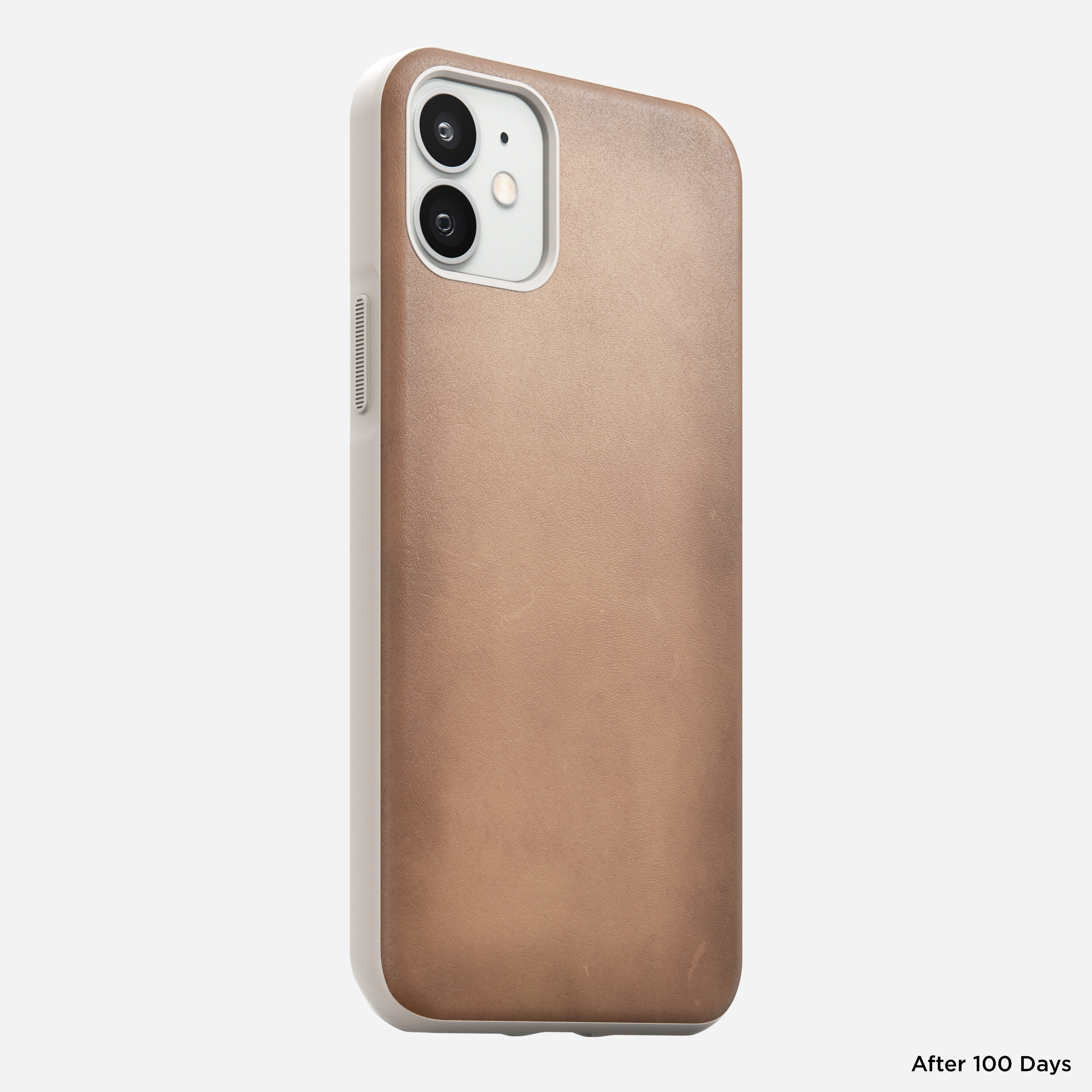 Rugged case horween leather natural iphone 12