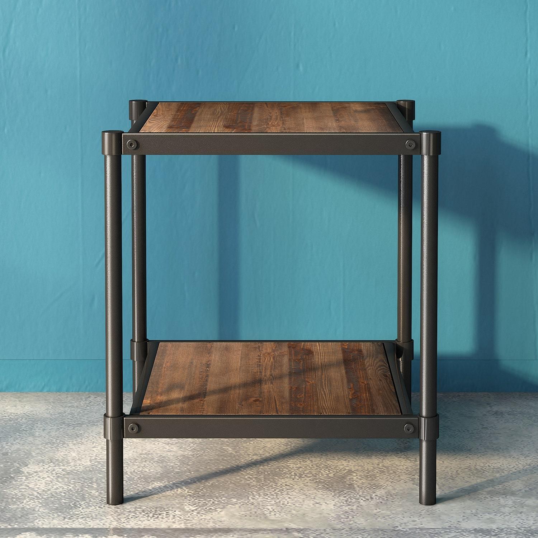 Wesley Metal and Wood Side Table