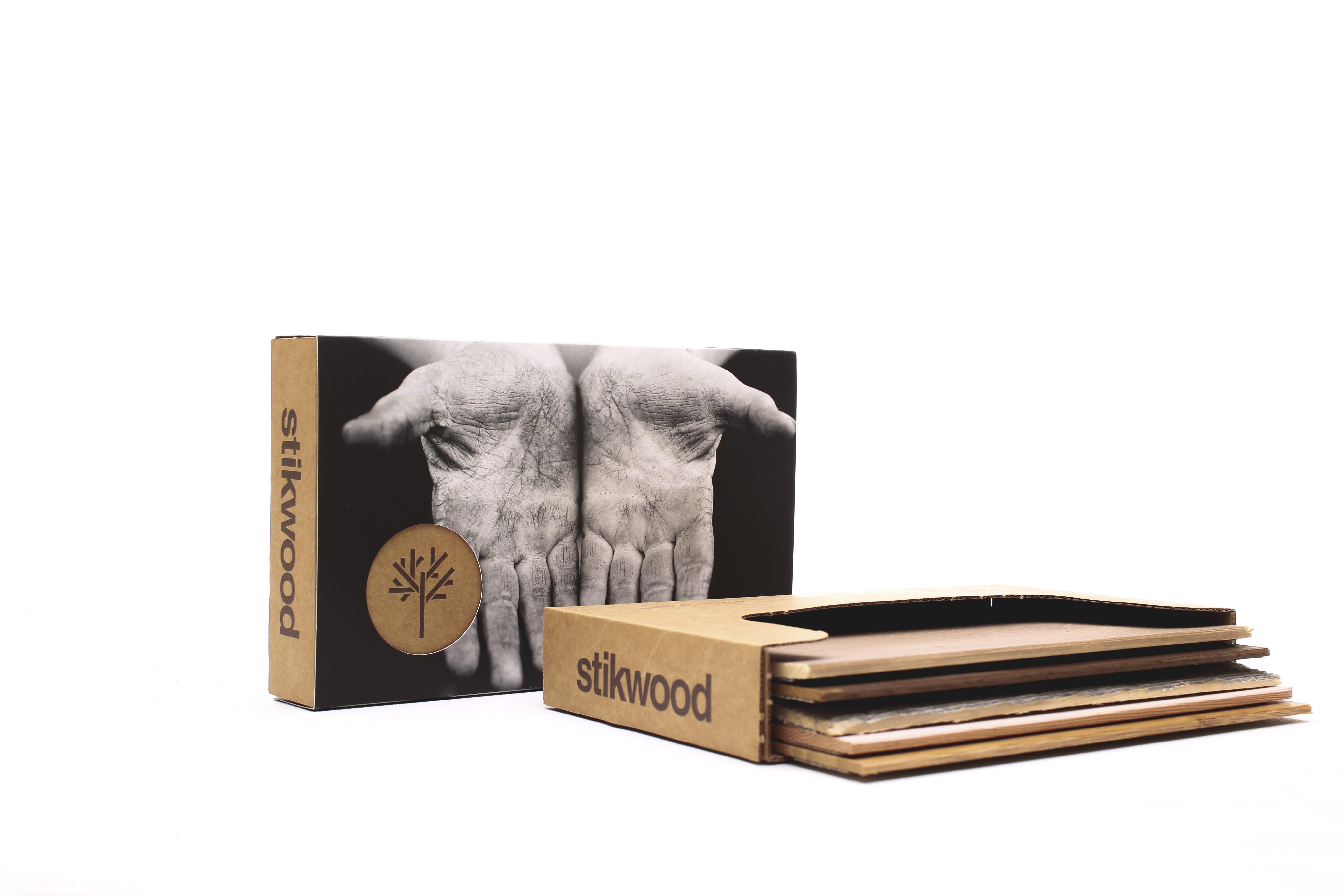 Stikwood peel and stick wood sample set.