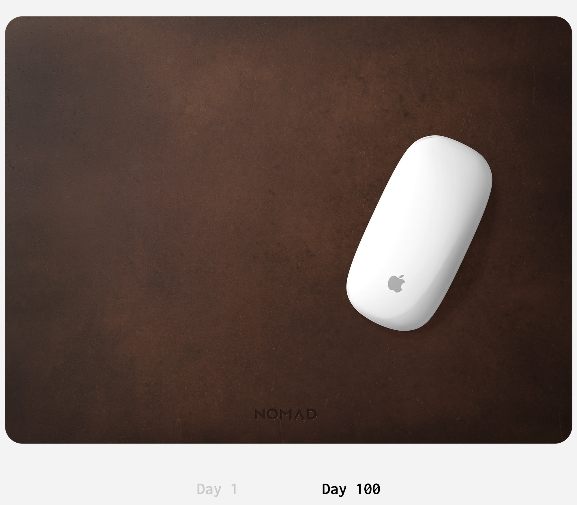 Nomad Rustic Brown Mousepad Aged