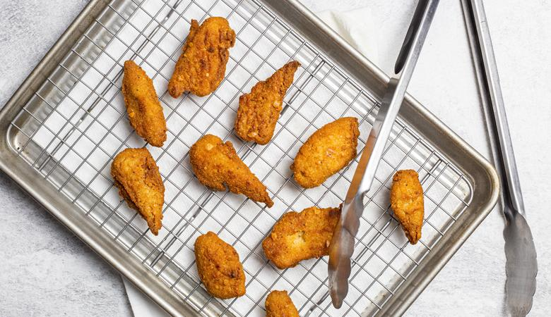 Daring Breaded Pieces on sheet