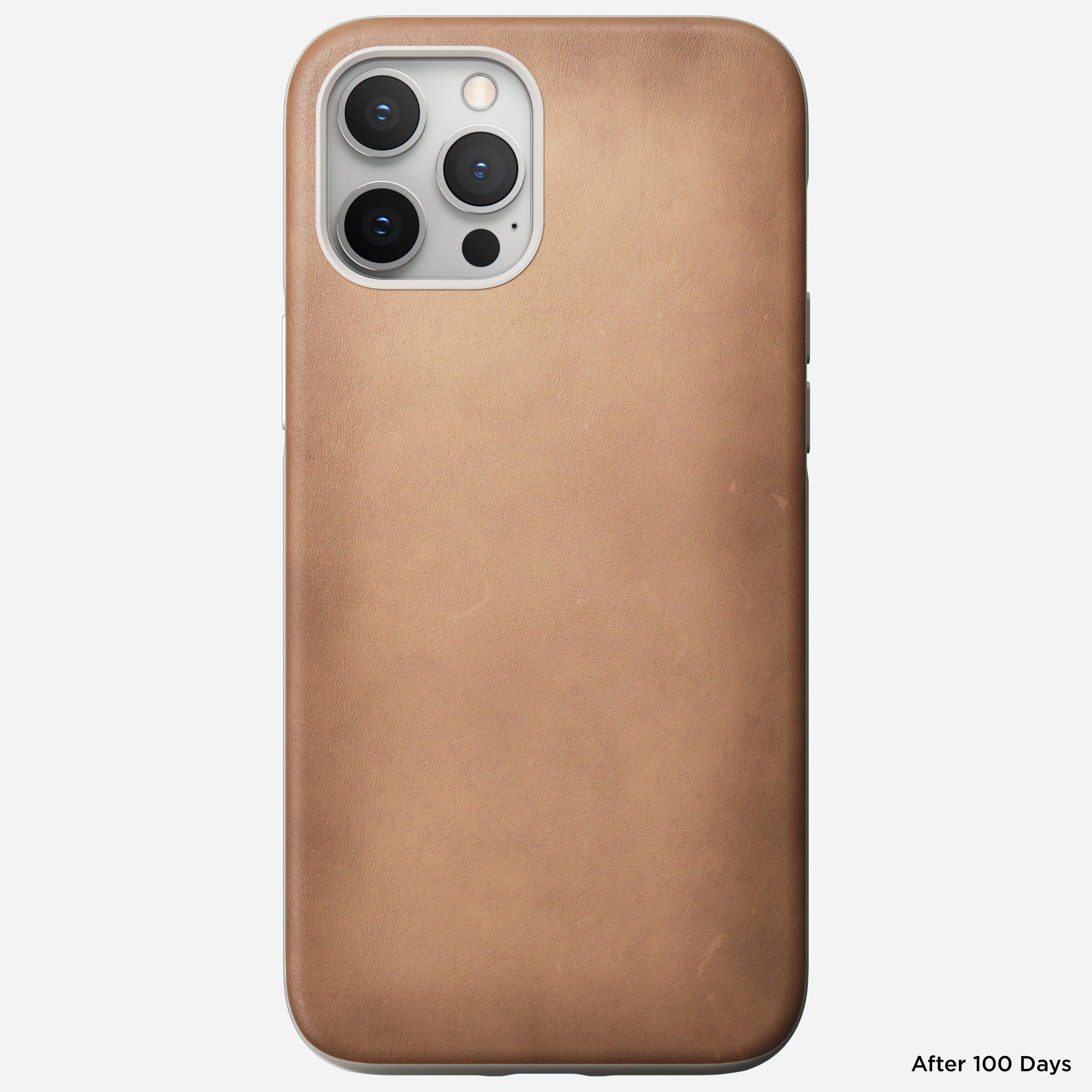 Rugged case horween leather natural iphone 12 pro max