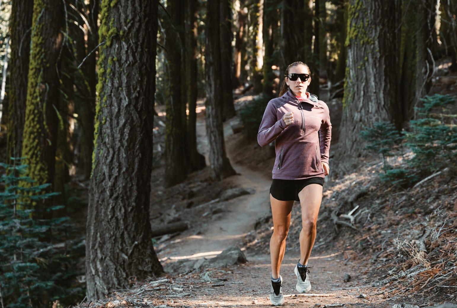 Run a local hiking trail.