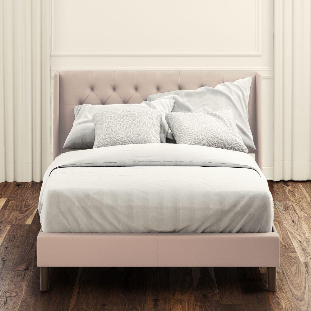 Desmond upholstered Platform Bed Front