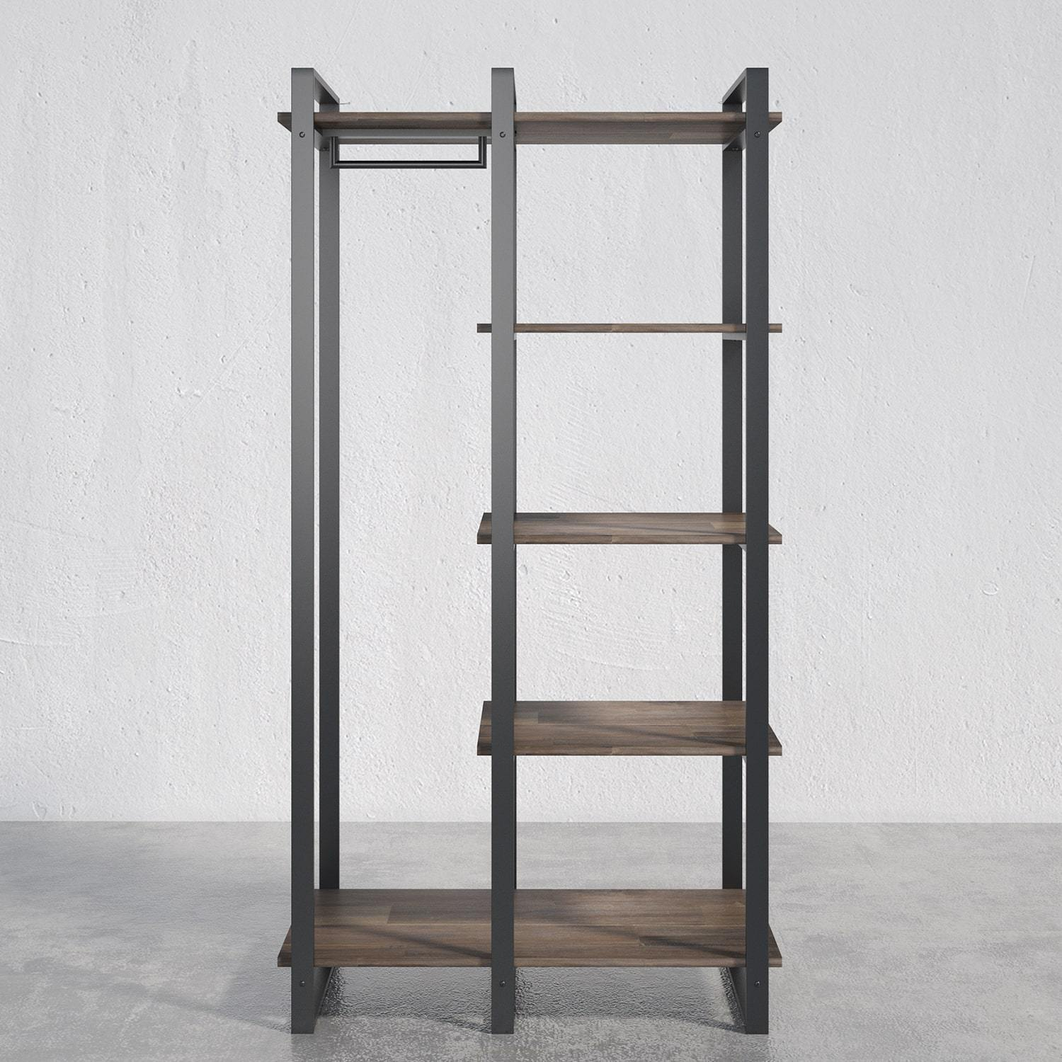 Brock Etagere Bookcase with Hanging Storage