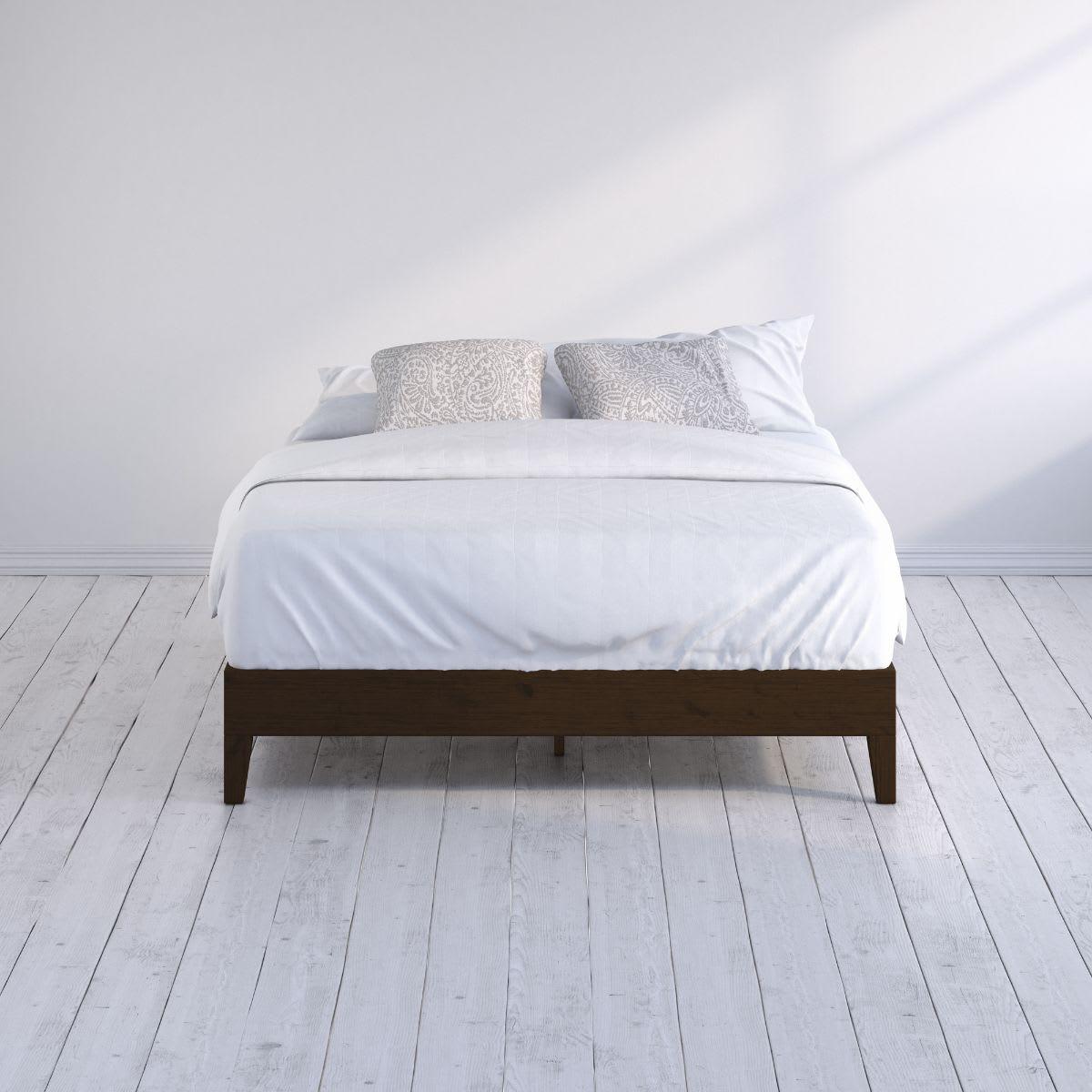 Marissa wood deluxe platform Bed frame Hero Web