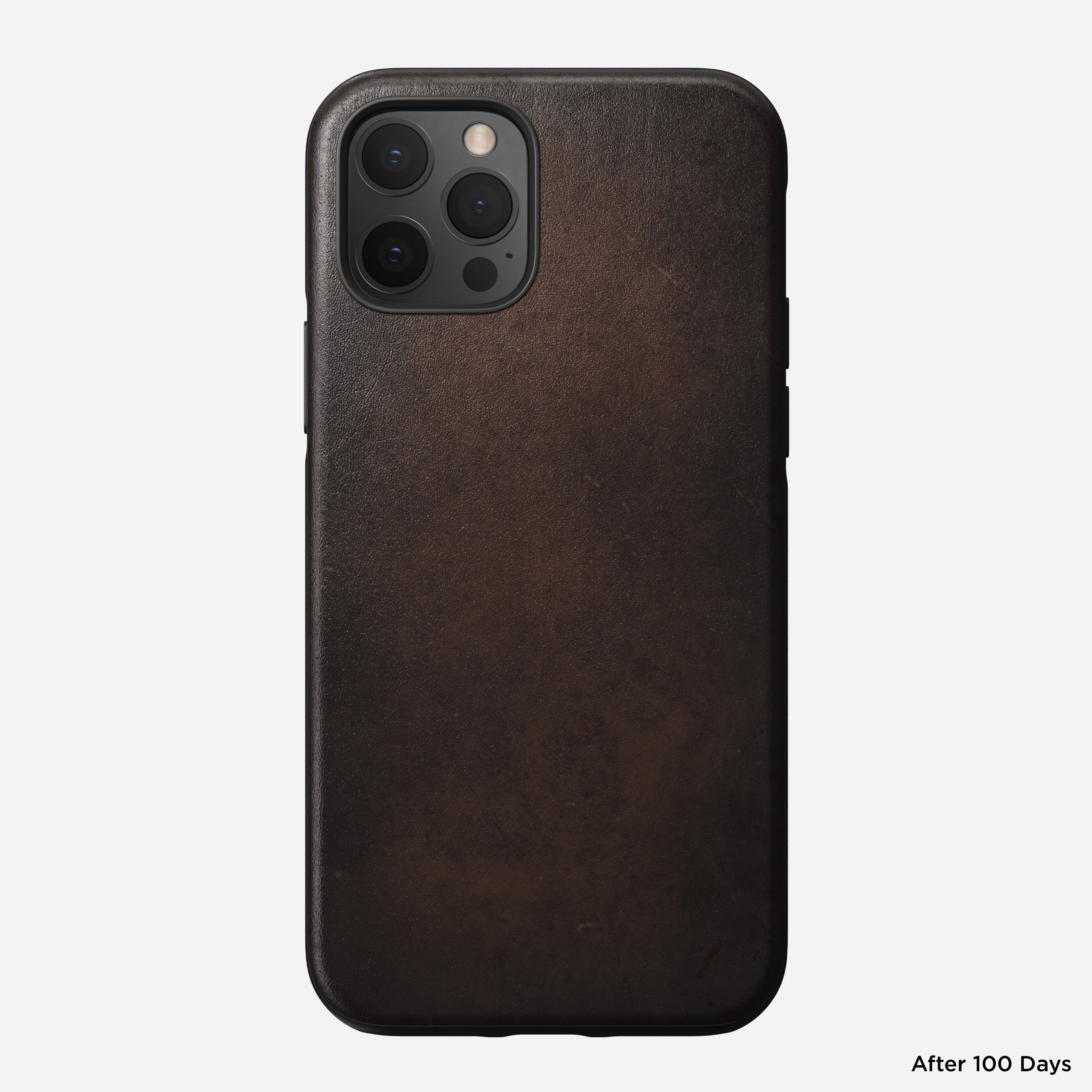 Rugged case horween leather rustic brown iphone 12 pro