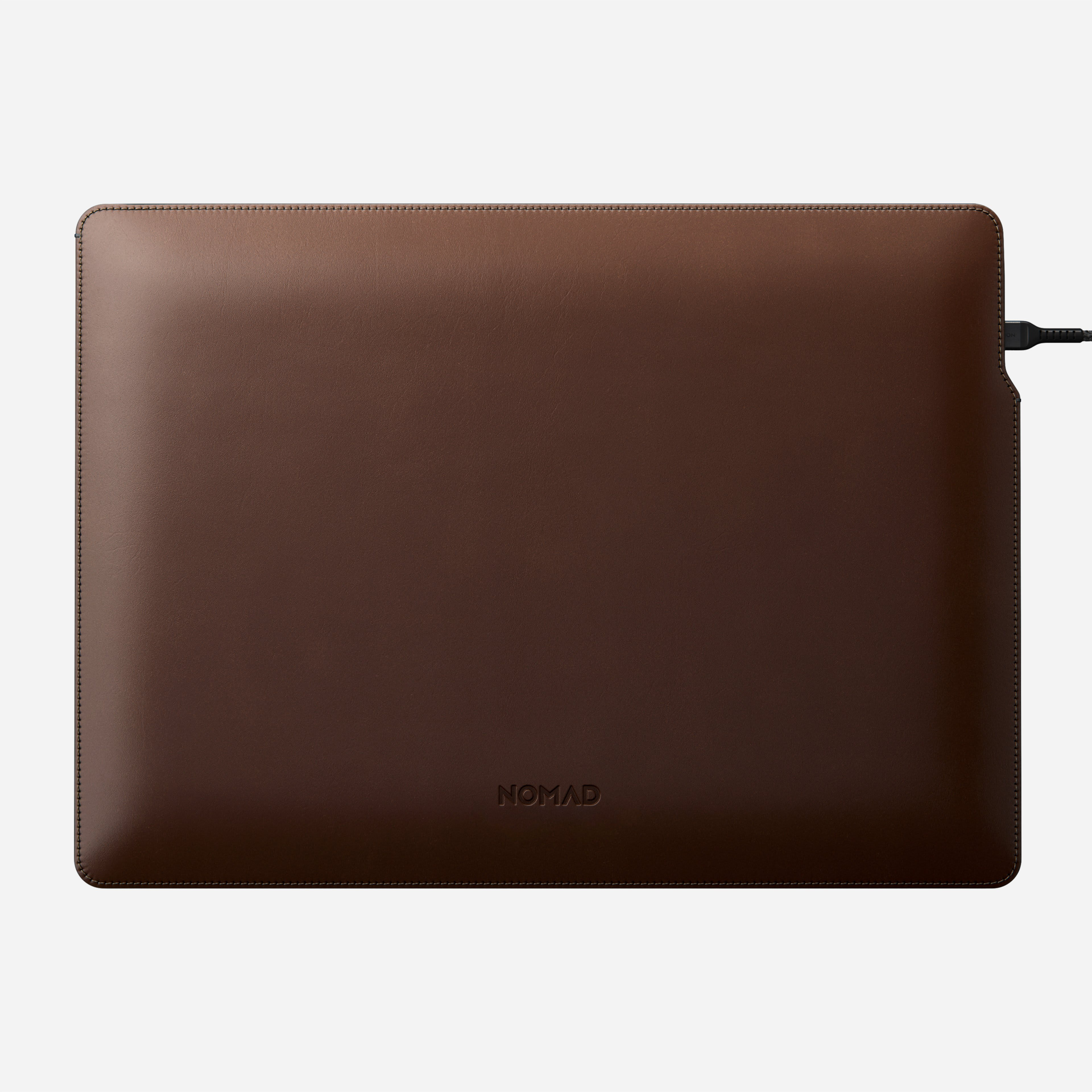 MacBook Pro Laptop Sleeve Horween Leather Angled Front View 16-inch