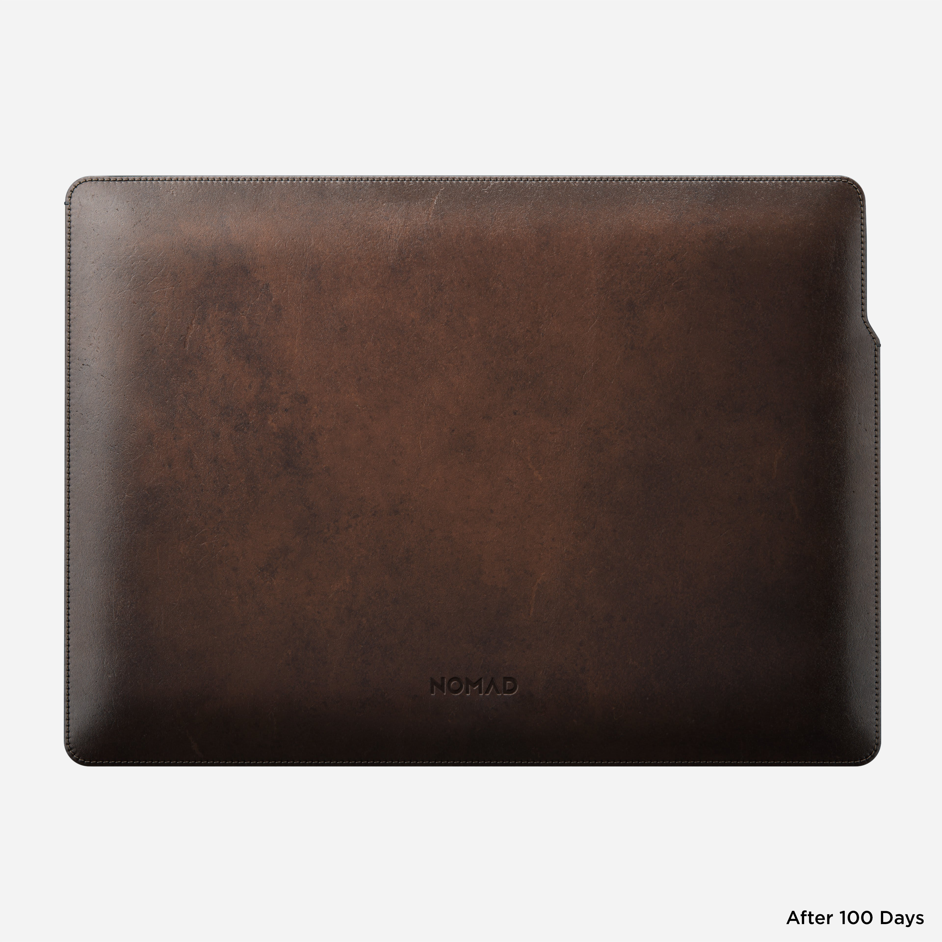 MacBook Pro Laptop Sleeve Horween Leather Horizontal View 16-inch