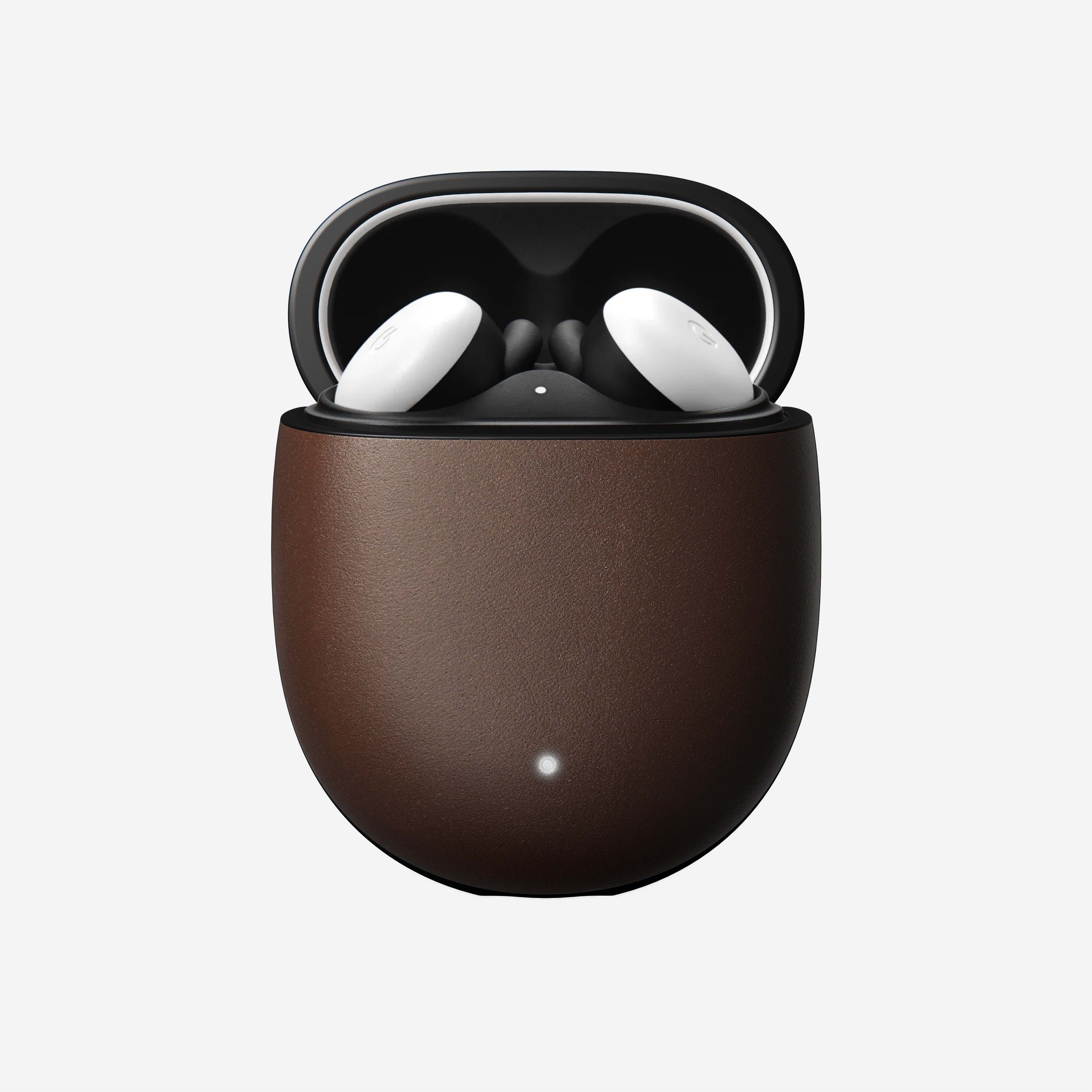 Pixel buds case rustic brown leather