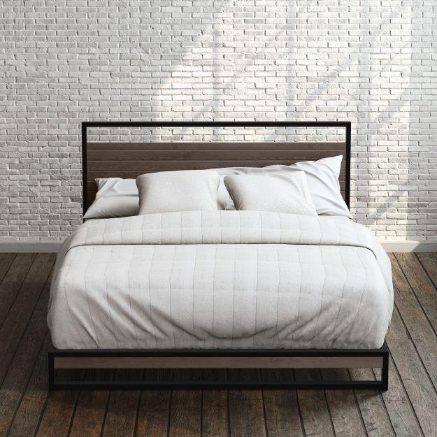 Suzanne Metal and Wood Platform Bed Frame