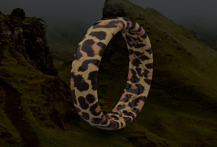 Leopard print Groove Ring