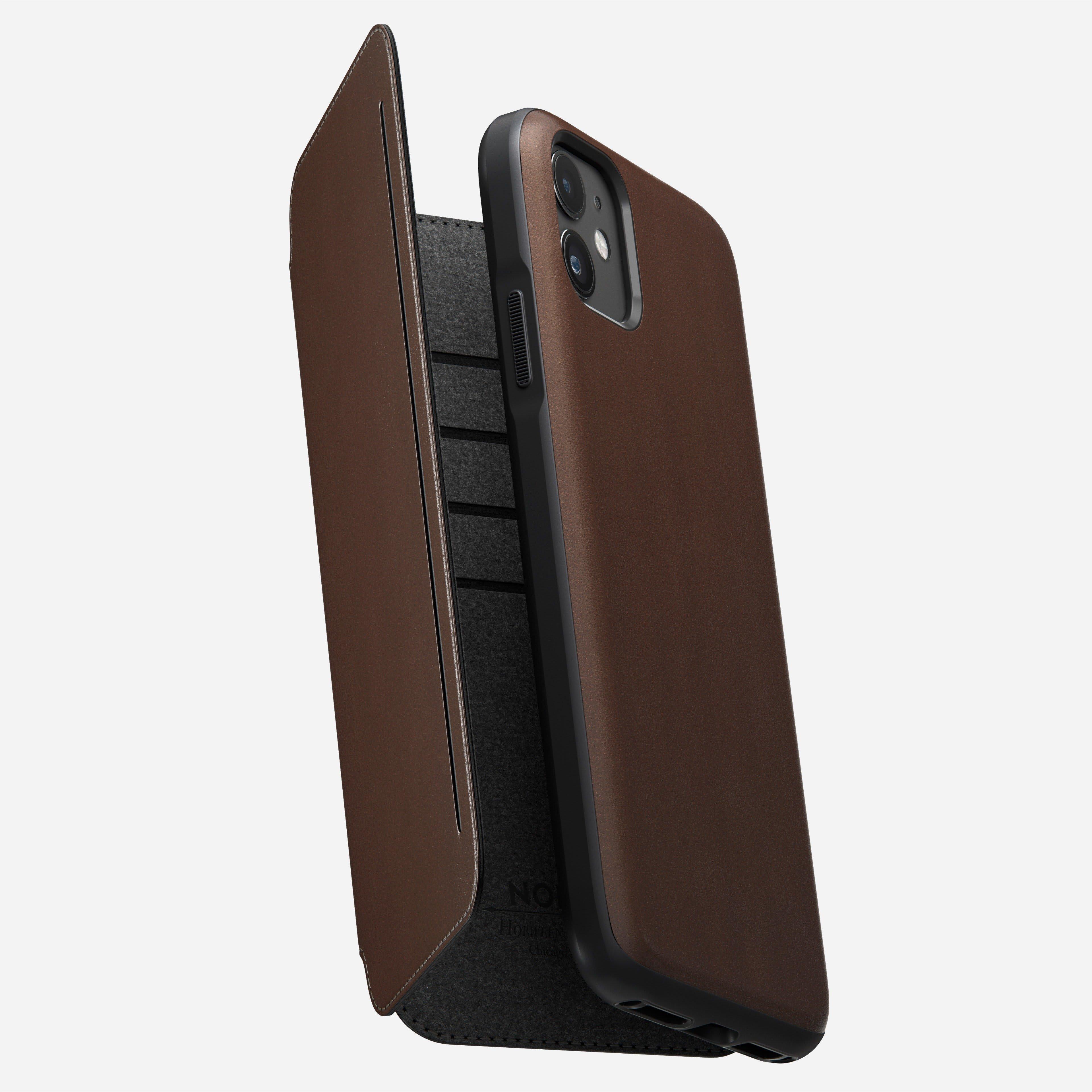 Rugged tri folio rustic brown iphone 11