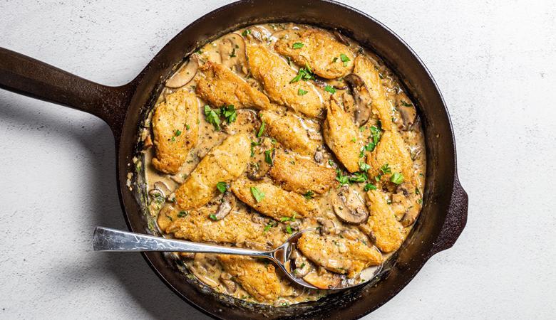 Daring Vegan Chicken Marsala