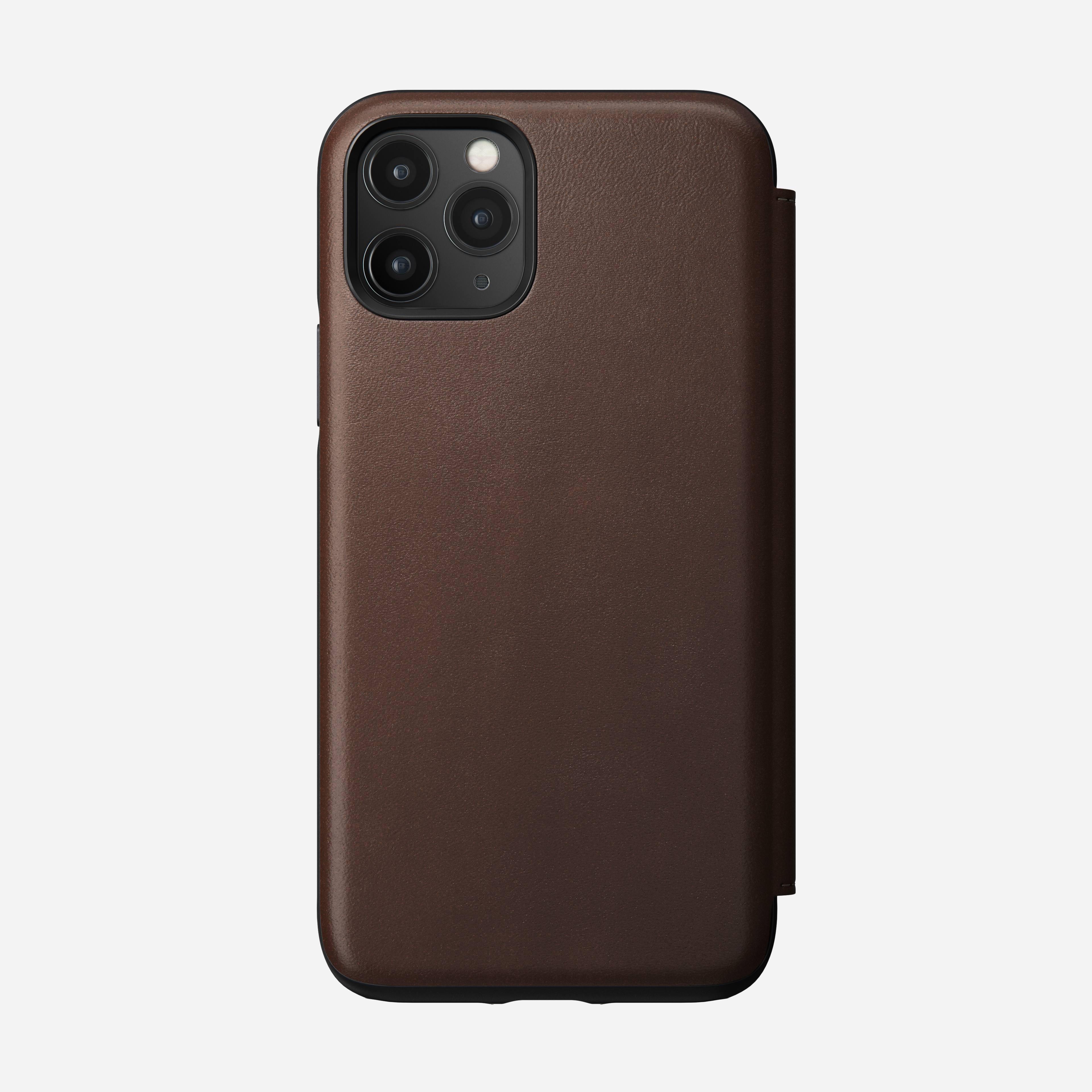 Rugged tri folio rustic brown iphone 11 pro