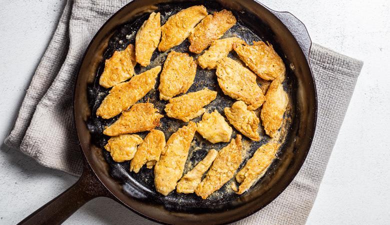 Original Daring Pieces fried in pan