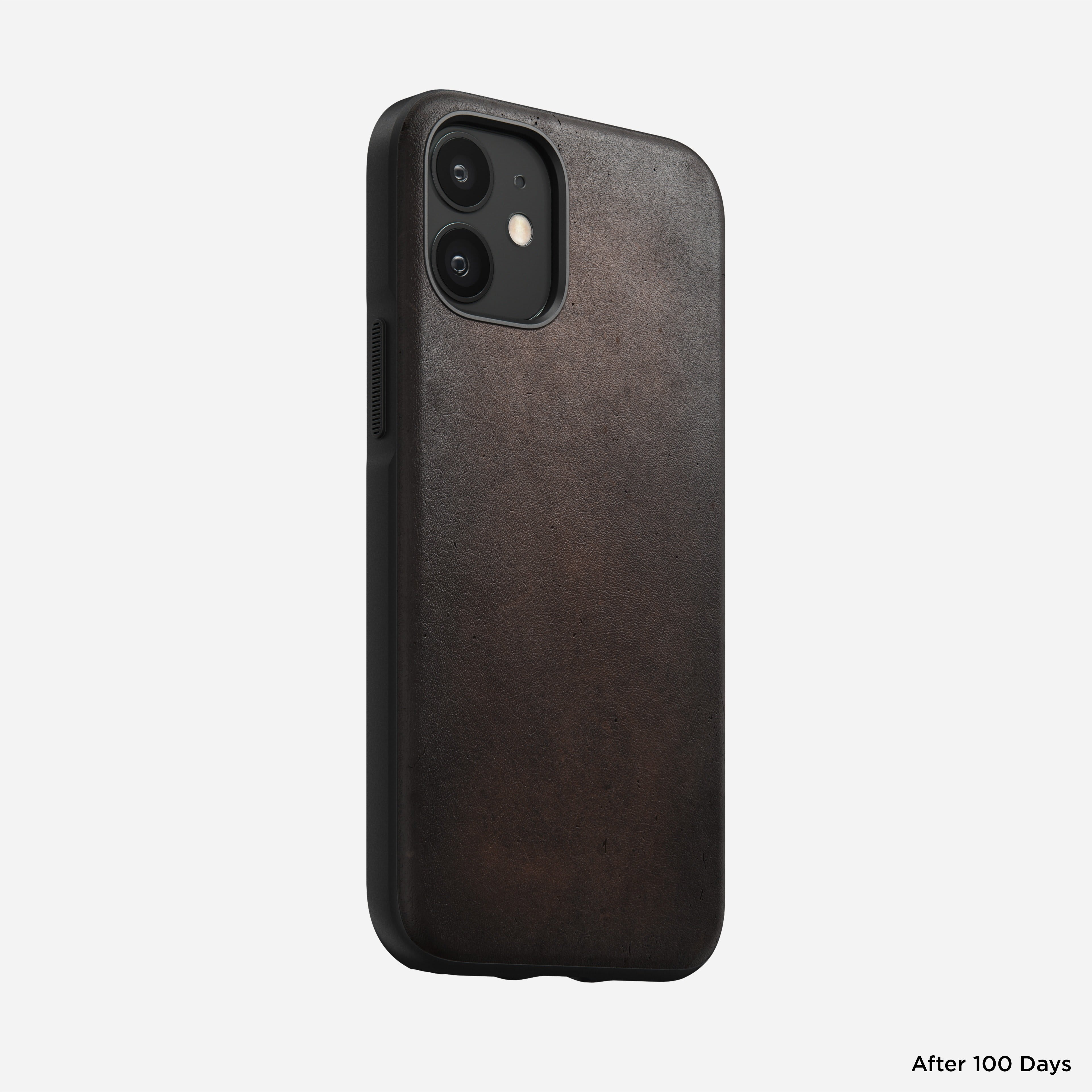 Rugged case horween leather rustic brown iphone 12 mini