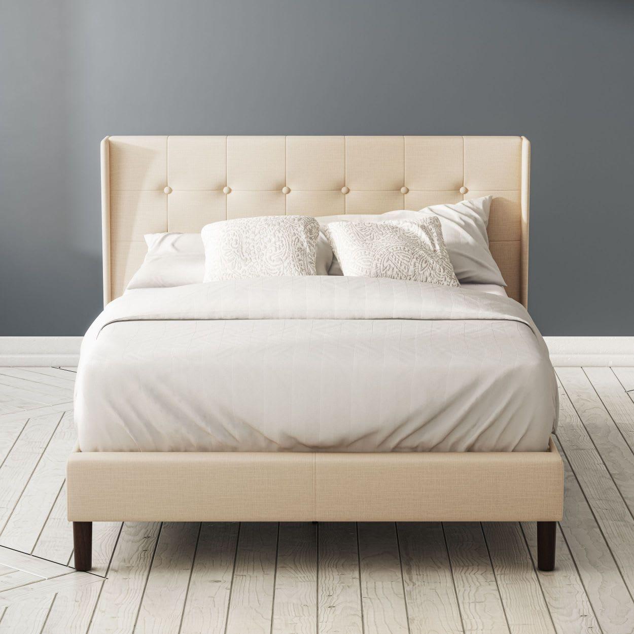 Athena upholstered platfrom bed frame