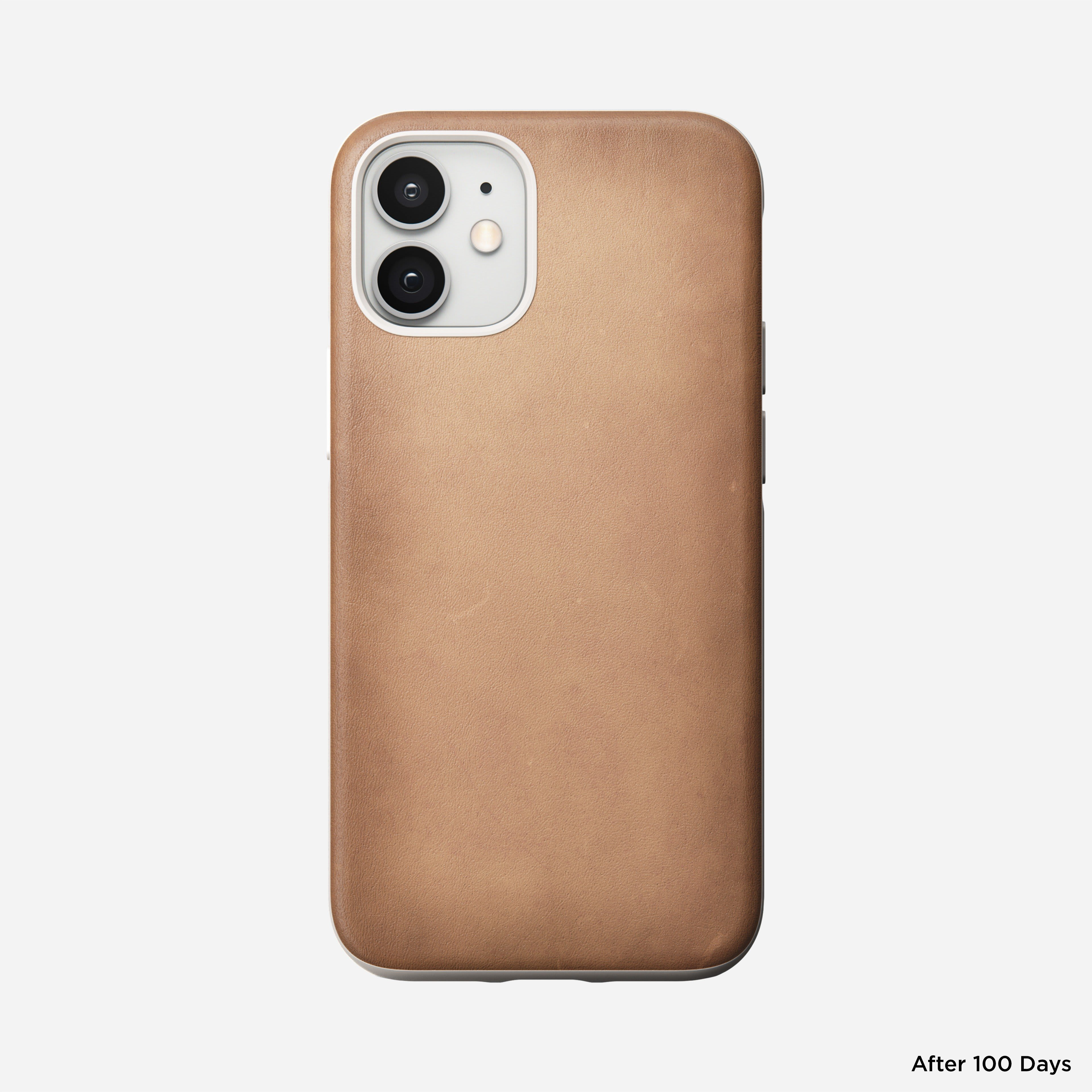 Rugged case horween leather natural iphone 12 mini