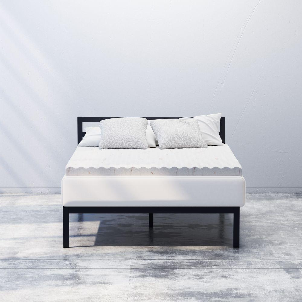 3  Cooling Copper Swirl Convoluted memory foam mattress Topper(1)