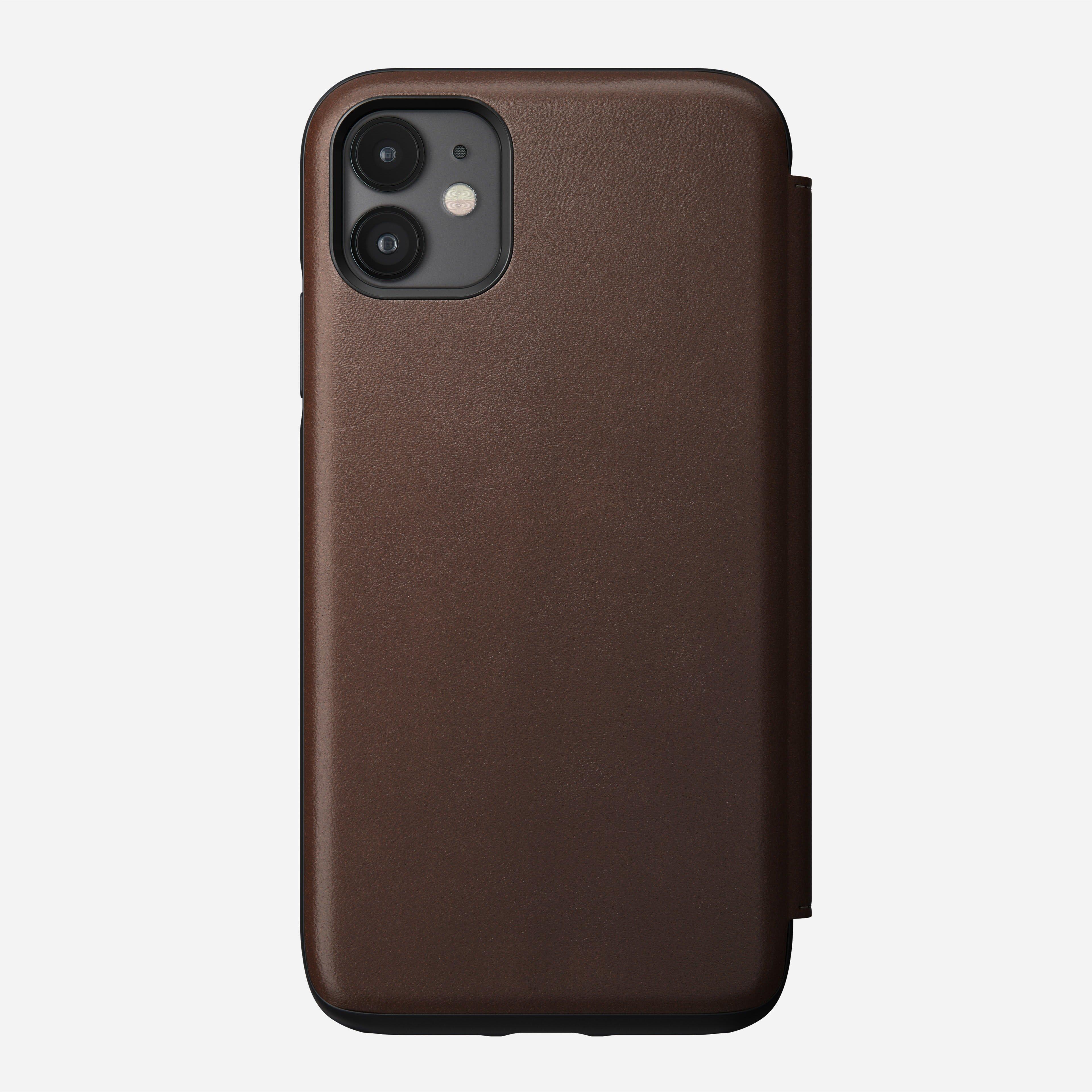 Rugged folio rustic brown iphone 11