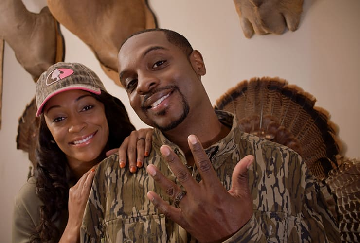 Henry and Lakeisha Woodard in their home